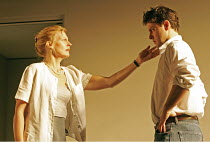 'FORTY WINKS' (Kevin Elyot   director: Katie Mitchell),Anastasia Hille (Diana), Dominic Rowan (Don),Jerwood Theatre Downstairs / Royal Court Theatre, London SW1   03/110/2004,