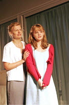 'FORTY WINKS' (Kevin Elyot   director: Katie Mitchell),l-r: Anastasia Hille (Diana), Carey Mulligan (Hermia),Jerwood Theatre Downstairs / Royal Court Theatre, London SW1   03/110/2004,
