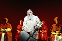 'GALILEO'S DAUGHTER' (Timberlake Wertenbaker, after Sobel   director: Peter Hall)~Julian Glover (Galileo) with Cardinals~Theatre Royal Bath             19/07/2004