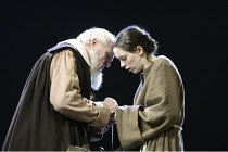 'GALILEO'S DAUGHTER' (Timberlake Wertenbaker, after Sobel   director: Peter Hall)~Julian Glover (Galileo), Rebecca Hall (Maria Celeste)~Theatre Royal Bath             19/07/2004