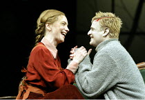 'GHOSTS' (Ibsen - director: Ingmar Bergman)~Angela Kovcs (Regine Engstrand), Jonas Malmsj� (Osvald Alving)~Royal Dramatic Theatre of Sweden / BITE:03   Barbican Theatre, London       01/05/2003