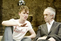 THE GOAT, OR WHO IS SYLVIA?  design: Hildegard Bechtler  lighting: Peter Mumford  director: Anthony Page <br>~l-r: Eddie Redmayne (Billy), Jonathan Pryce (Martin)~Almeida Theatre, London N1  03/02/200...