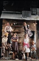 'THE GOOD PERSON OF SICHUAN' (Brecht - director: Deborah Warner),centre: Fiona Shaw (Shen Te),Olivier Theatre / National Theatre, London SE1       28/11/1989,