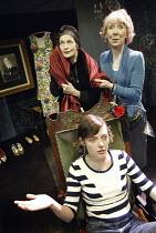'3 WOMEN' (Catherine Anne - director: Marianne Badrichani) l-r: (rear) Ann Firbank (Mme Chevalier), Marcia Warren (Jo'lle), (seated) Camilla Rutherford (Jo'lle) Coup de Theatre / Riverside Studios,...