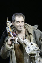 'HIS DARK MATERIALS' (Philip Pullman, adapted by Nicholas Wright - director: Nicholas Hytner)~Part 2 - 1st Lord Roke: Timothy Dalton (Lord Asriel) with Stelmaria (the snow leopard, his daemon) and  Lo...