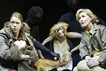 'HIS DARK MATERIALS' (Philip Pullman, adapted by Nicholas Wright - director: Nicholas Hytner)~Part 2 - Witches Camp: Anna Maxwell Martin (Lyra Belacqua), Patricia Hodge (Mrs Coulter) with Pantalaimon...