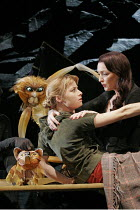 'HIS DARK MATERIALS' (Philip Pullman, adapted by Nicholas Wright - directed by Nicholas Hytner & Matt Wilde),l-r: Elaine Symons (Lyra Belacqua), Lesley Manville (Mrs Coulter) ,with Pantalaimon (Lyra's...