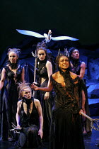 'HIS DARK MATERIALS' (Philip Pullman, adapted by Nicholas Wright - directed by Nicholas Hytner & Matt Wilde),front right: Adjoa Andoh (Serafina Pekkala, Queen of the Lapland Witches),Olivier Theatre /...