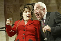 'THE HOLY TERROR' (Simon Gray - director: Laurence Boswell) Beverley Klein (Gladys Powers), Simon Callow (Mark) Duke of York's Theatre, London WC2   14/04/2004
