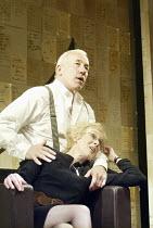 'THE HOLY TERROR' (Simon Gray - director: Laurence Boswell)~Simon Callow (Mark), Geraldine Alexander (Kate)~Duke of York's Theatre, London WC2   14/04/2004