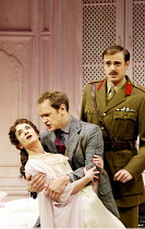 HOME AND BEAUTY  by Somerset Maugham  design: Simon Higlett  lighting: Jon Linstrum  director: Christopher Luscombe   l-r: Victoria Hamilton (Victoria), Alexander Armstrong (William Cardew), Jamie Th...