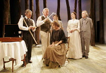 'THE HOME PLACE' (Brian Friel - director: Adrian Noble),l-r: Sean Murray (Perkins), Nick Dunning (Dr Richard Gore), Brenda Larby (Mary Sweeney), Derbhle Crotty (Margaret O'Donnell), Tom Courtenay (Chr...