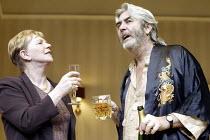 'HONEYMOON SUITE' (Richard Bean - director: Paul Miller)~Marjorie Yates (Marfleet), John Alderton (Whitchell)~Jerwood Theatre Downstairs / Royal Court Theatre, London SW1...