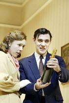 'HONEYMOON SUITE' (Richard Bean - director: Paul Miller)~Sara Beharrell (Irene), Liam Garrigan (Eddie)~Jerwood Theatre Downstairs / Royal Court Theatre, London SW1                                    1...