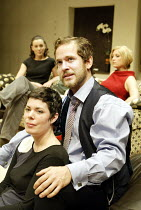 'THE HOTEL IN AMSTERDAM' (John Osborne - director: Robin Lefevre)~front: Selina Griffiths (Amy), Tom Hollander (Laurie)~Donmar Warehouse, London WC2          17/09/2003