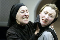 'THE HOUSE OF BERNARDA ALBA' (Lorca)~l-r: Lynn Farleigh (Bernarda Alba), Paula Stockbridge (Angustias)~Orange Tree Theatre, Richmond             21/03/2003