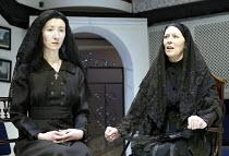 'THE HOUSE OF BERNARDA ALBA' (Lorca)~l-r: Paula Stockbridge (Angustias), Lynn Farleigh (Bernarda Alba)~Orange Tree Theatre, Richmond             21/03/2003