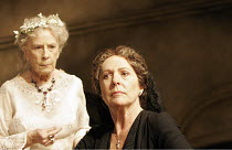 'THE HOUSE OF BERNARDA ALBA' (Lorca, new English version by David Hare - director: Howard Davies),l-r: Cherry Morris (Maria Josefa), Penelope Wilton (Bernarda Alba),Lyttelton Theatre / National Theatr...