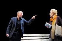 'HOWARD KATZ' (Marber)~Ron Cook (Howard Katz), Cherry Morris (Ellie)~Royal National Theatre/Cottesloe Theatre, London SE1  13/06/2001
