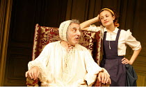 THE HYPOCHONDRIAC   by Moliere   in a new version by Richard Bean   director: Lindsay Posner,Henry Goodman (Argan), Lyndsey Marshal (Toinette),Almeida Theatre, London N1                  17/11/2005,