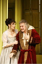 THE HYPOCHONDRIAC   by Moliere   in a new version by Richard Bean   director: Lindsay Posner,Ronni Ancona (B�line), Henry Goodman (Argan),Almeida Theatre, London N1                  17/11/2005,