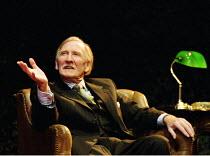 NAKED JUSTICE  by John Mortimer  director: Christopher Morahan <br> Leslie Phillips (Fred) West Yorkshire Playhouse, Leeds, England  02/02/2001