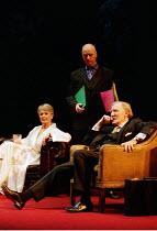 NAKED JUSTICE  by John Mortimer  director: Christopher Morahan <br> l-r: Anna Carteret (Elspeth), Nicholas Jones (Keith), Leslie Phillips (Fred) West Yorkshire Playhouse, Leeds, England  02/02/2001