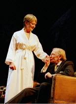 NAKED JUSTICE  by John Mortimer  director: Christopher Morahan <br> Anna Carteret (Elspeth), Leslie Phillips (Fred) West Yorkshire Playhouse, Leeds, England  02/02/2001