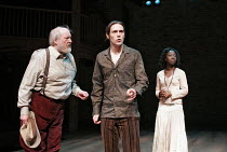 'A NEW WAY TO PLEASE YOU' (Middleton & Rowley - director: Sean Holmes),l-r: Barry Stanton (Leonides), Matt Ryan (Cleanthes), Evelyn Duah (Hippolita),Royal Shakespeare Company / Swan Theatre, Stratford...