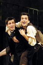 'NICHOLAS NICKLEBY' (Part 1) (David Edgar after Dickens)~l-r: Tim Delap (Nicholas Nickleby), Ben McKay (Smike)~National Youth Theatre/Lyric Theatre Hammersmith, London W6       30/08/2001