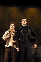 'NICHOLAS NICKLEBY' (Part 1) (David Edgar after Dickens)~l-r: Ben McKay (Smike), Tim Delap (Nicholas Nickleby)~National Youth Theatre/Lyric Theatre Hammersmith, London W6       30/08/2001