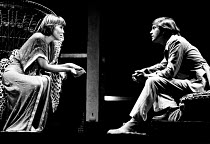 NIGHT AND DAY  by Tom Stoppard  design: Carl Toms  lighting: Robert Bryan  director: Peter Wood <br> ~Diana Rigg (Ruth Carson), Peter Machin (Jacob Milne)~Phoenix Theatre, London WC2  08/11/1978 ~(c)...