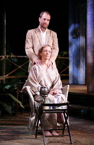 THE NIGHT OF THE IGUANA   by Tennessee Williams   director: Anthony Page,Jenny Seagrove (Hanna Jelkes), Woody Harrelson (T. Lawrence Shannon),Lyric Theatre, London W1                      05/12/2005,