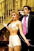 'NOISES OFF' (Frayn),Natalie Walter (Brooke Ashton), Stephen Mangan (Garry Lejeune),Piccadilly Theatre  London W1  14/05/2001,