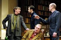 'NO MAN'S LAND' (Pinter)~l-r: John Wood (Spooner), Danny Dyer (Foster), (seated) Corin Redgrave (Hirst), Andy de la Tour (Briggs)~Lyttelton Theatre/Royal National Theatre, London SE1               06/...