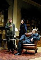 'NO MAN'S LAND' (Pinter)~l-r: John Wood (Spooner), Danny Dyer (Foster), Andy de la Tour (Briggs)~Lyttelton Theatre/Royal National Theatre, London SE1               06/12/2001