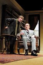 'NO MAN'S LAND' (Pinter)~l-r: John Wood (Spooner), Corin Redgrave (Hirst)~Lyttelton Theatre/Royal National Theatre, London SE1               06/12/2001
