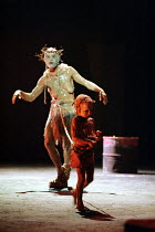 Greg Hicks (Tiresias) and child in OEDIPUS THE KING by Sophocles at the Olivier Theatre, National Theatre (NT), London SE1  17/09/1996 part of THE OEDIPUS PLAYS  translated by Ranjit Bolt  composer:...