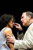 'ONE FOR THE ROAD' (Pinter)~Indira Varma (Gila), Harold Pinter (Nicolas)~Gate Theatre Dublin production/New Ambassador's Theatre, London WC2   04/07/2001