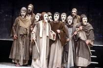 THE ORESTEIA , by Aeschylus , in a version by Tony Harrison , design: Jocelyn Herbert assisted by Sue Jenkinson , lighting: John Bury , movement: Stuart Hopps , director: Peter Hall ,~male chorus~Oliv...
