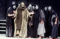 THE ORESTEIA by Aeschylus in a version by Tony Harrison  design: Jocelyn Herbert  assisted by Sue Jenkinson  lighting: John Bury  movement: Stuart Hopps  director: Peter Hall ~chorus~Olivier Theatre,...