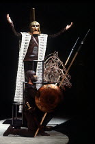 Agamemnon in THE ORESTEIA by Aeschylus at the Olivier Theatre, National Theatre (NT), London SE1 28/11/1981 ~in a version by Tony Harrison  design: Jocelyn Herbert assisted by Sue Jenkinson  lighting:...