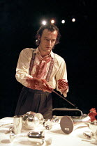 'THE ORESTEIA' (Aeschylus - new version by Ted Hughes   director: Katie Mitchell)~Paul Hilton (Orestes)~Cottesloe Theatre / National Theatre, London SE1        01/12/1999