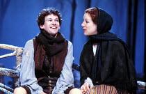 'OTHER WORLDS' (Robert Holman - director: Richard Wilson) Paul Copley (Joe Waterman), Juliet Stevenson (Betsy/Emma Braye)  Royal Court Theatre, London SW1            05/1983