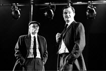 'OUR FRIENDS IN THE NORTH' (Flannery) l-r: Fred Pearson (Eddie Wells), Jim Broadbent (Austin Donohue) RSC/The Pit - Barbican Centre, London EC2            05/1982