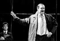 'OUR FRIENDS IN THE NORTH' (Flannery) (right) Jim Broadbent (Austin Donohue) RSC/The Pit - Barbican Centre, London EC2            05/1982