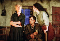 'THE PLAYBOY OF THE WESTERN WORLD' (Synge),l-r: Sorcha Cusack (Widow Quinn), Patrick O'Kane (Christopher 'Christy' Mahon), Derbhle Crotty (Margaret Flaherty/'Pegeen Mike'),RNT/Cottesloe Theatre, Londo...