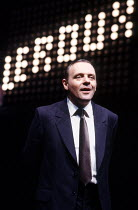 PRAVDA  written & directed by David Hare  set design: Hayden Griffin  costumes: Lindy Hemming <br>~Anthony Hopkins (Lambert le Roux)~Olivier Theatre, National Theatre (NT), London SE1  02/05/1985~(c)...