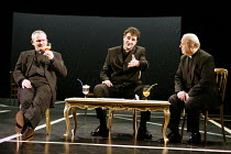 'RACING DEMON' (Hare)~l-r: Paul Raffield (The Rev. Donald 'Streaky' Bacon), John Hodgkinson (The Rev. Tony Ferris), Timothy Kightley (The Rev. Harry Henderson)~Birmingham Repertory Theatre...