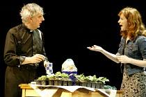'RACING DEMON' (Hare)~Jack Shepherd (The Rev. Lionel Espy), Carolyn Backhouse (Frances Parnell)~Birmingham Repertory Theatre              11/03/2003
